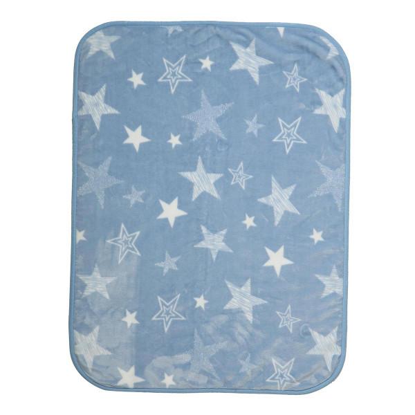 Κουβέρτα Βελουτέ Αγκαλιάς Nef-Nef Astro Blue
