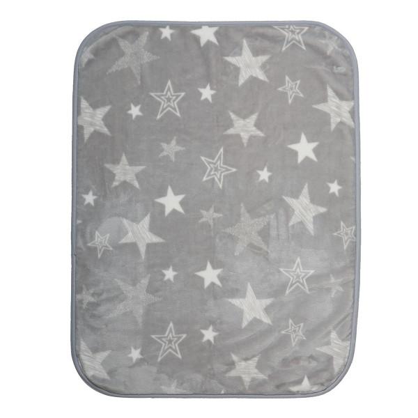 Κουβέρτα Βελουτέ Κούνιας Nef-Nef Astro Grey
