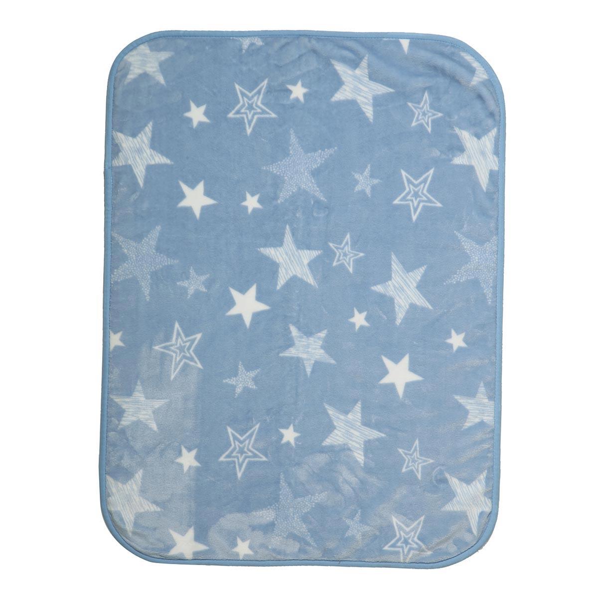 Κουβέρτα Βελουτέ Κούνιας Nef-Nef Astro Blue
