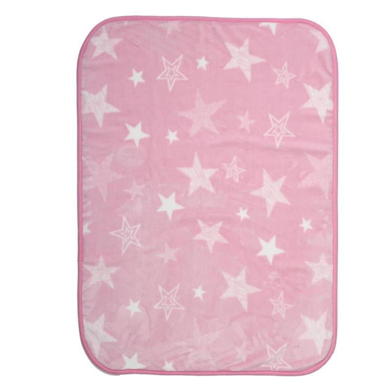 Κουβέρτα Βελουτέ Κούνιας Nef-Nef Astro Pink