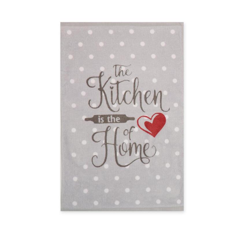 Πετσέτα Κουζίνας Nef-Nef Heart Of Home Grey