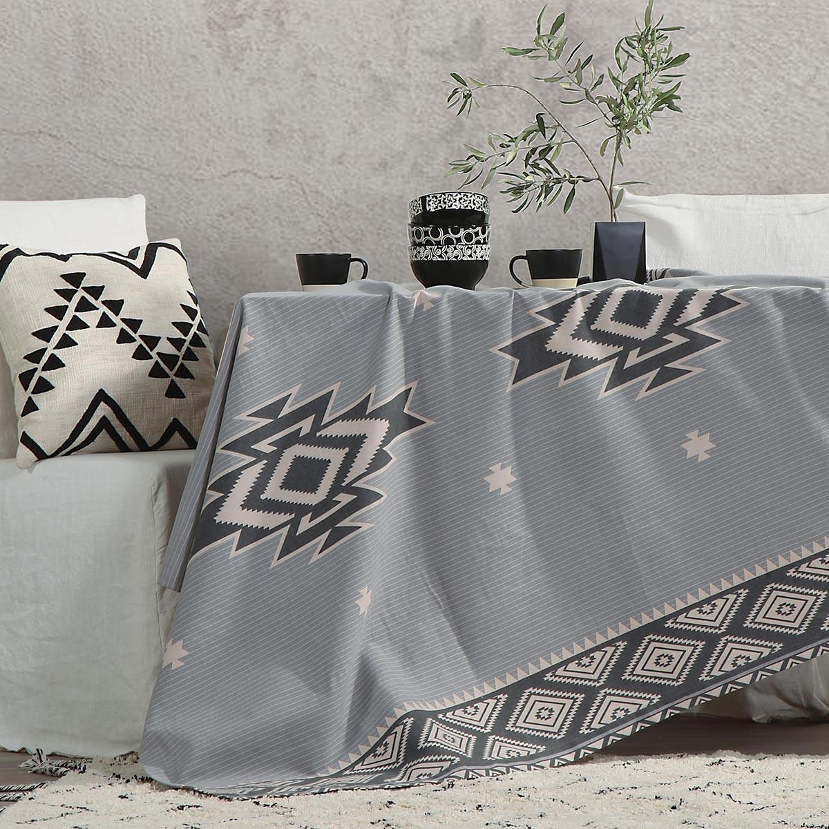 Τραπεζομάντηλο (140×140) Nef-Nef Village Grey