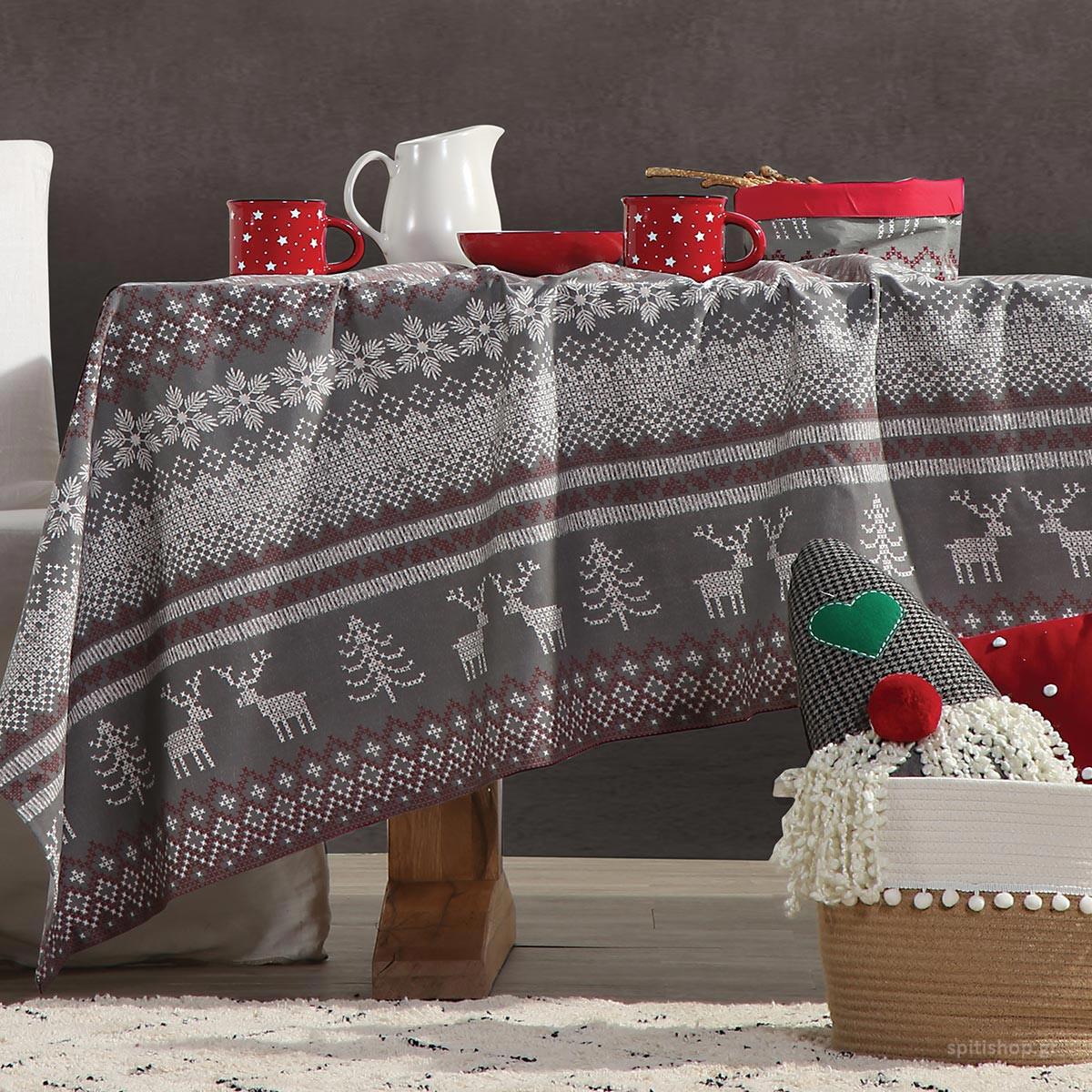 Χριστουγεννιάτικο Τραπεζομάντηλο (140×140) Nef-Nef Greetings