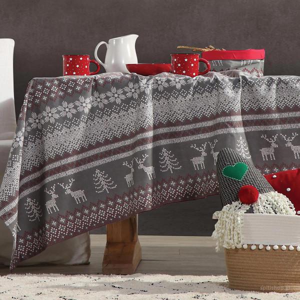 Χριστουγεννιάτικο Τραπεζομάντηλο (140x180) Nef-Nef Greetings