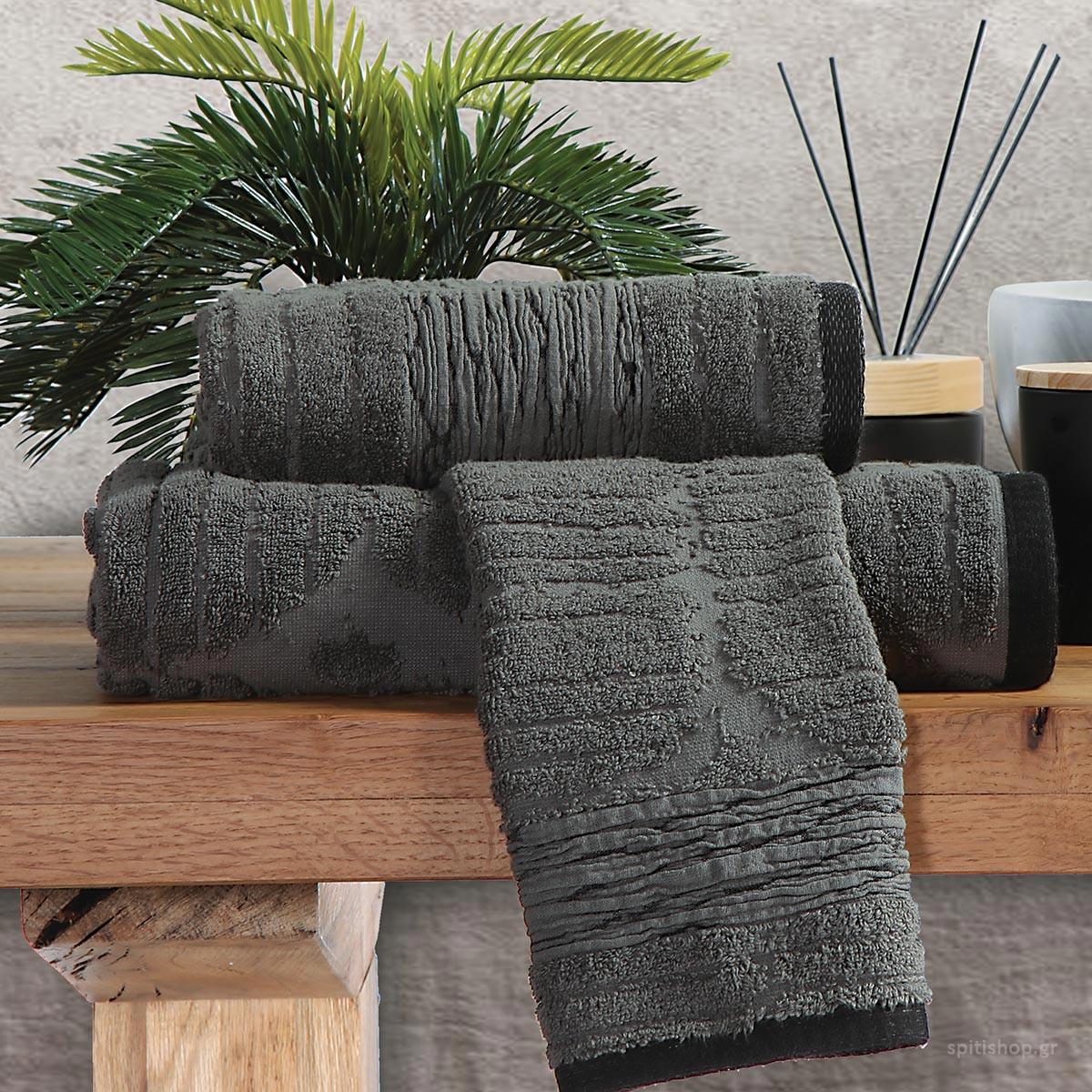 Πετσέτα Προσώπου (50x90) Nef-Nef Maze Anthracite