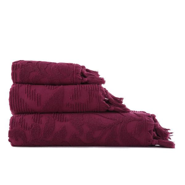 Πετσέτα Προσώπου (50x90) Nef-Nef Kynthia Bordo