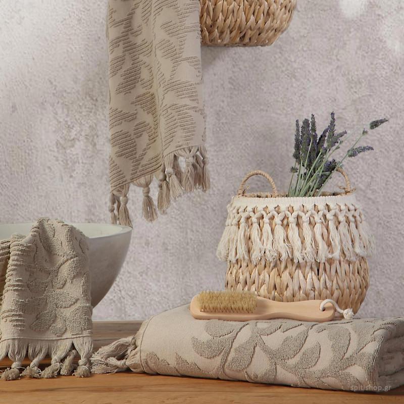 Πετσέτα Προσώπου (50x90) Nef-Nef Kynthia Beige