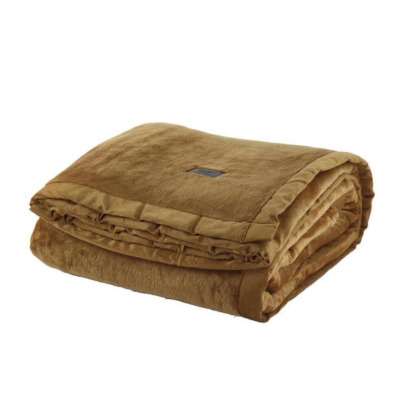 Κουβέρτα Βελουτέ Υπέρδιπλη Nef-Nef Velosso Ochre