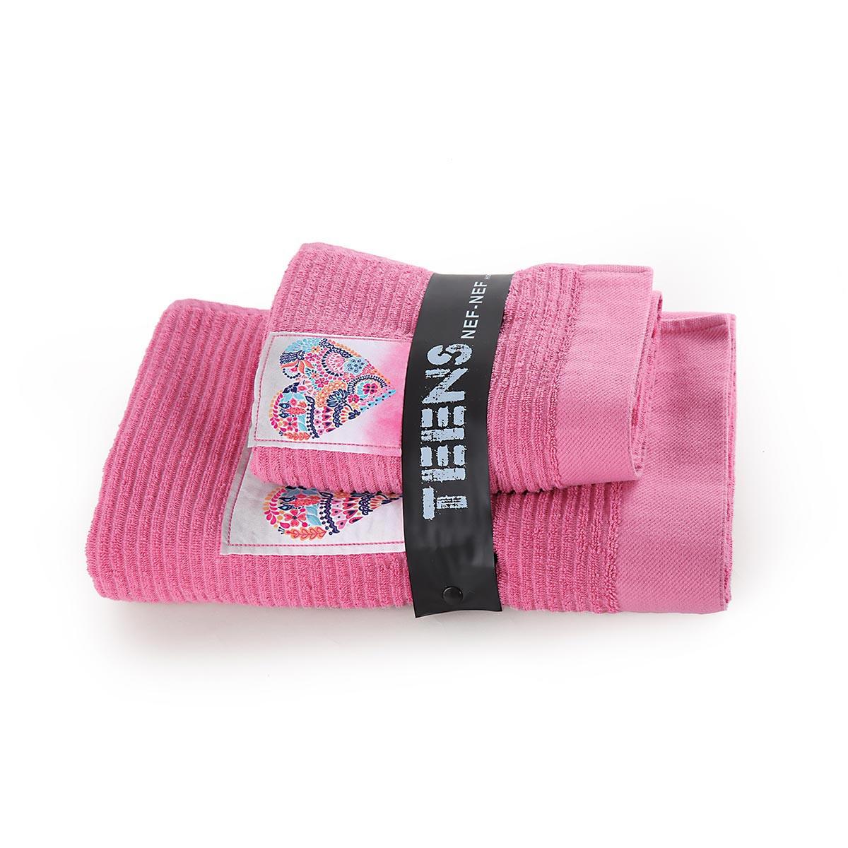 Παιδικές Πετσέτες (Σετ 2τμχ) Nef-Nef Stylish Heart