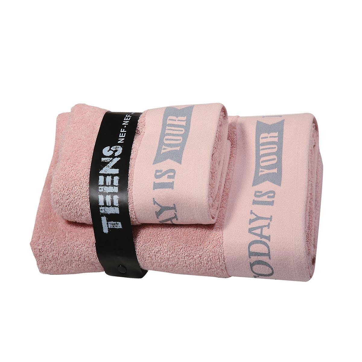 Παιδικές Πετσέτες (Σετ 2τμχ) Nef-Nef Today Is Your Day Pink