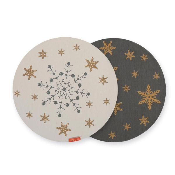 Χριστουγεννιάτικο Σουπλά Nef-Nef Golden Snowflakes