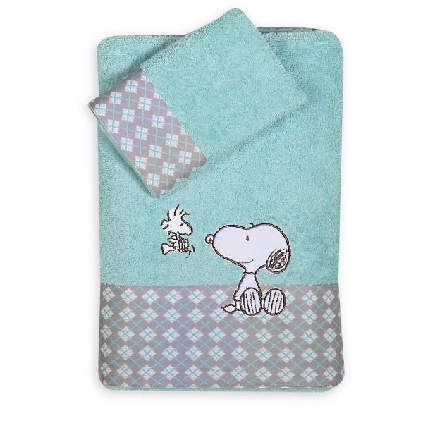 Βρεφικές Πετσέτες (Σετ 2τμχ) Nef-Nef Snoopy Happiness