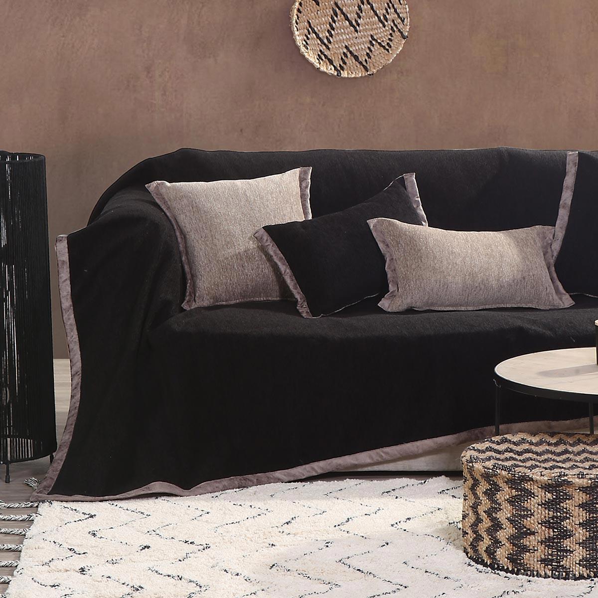 Ριχτάρι Τριθέσιου (180×300) Nef-Nef New Tanger Black/Beige