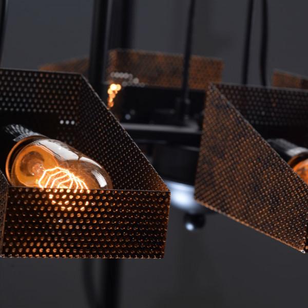 Φωτιστικό Οροφής Πολύφωτο Aca EG166126PBC Black Matt/Cooper