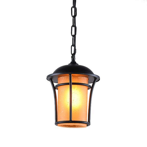 Φωτιστικό Οροφής Μονόφωτο Aca EG166211PB Black Matt/Honey