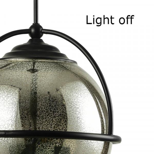 Φωτιστικό Οροφής Μονόφωτο Aca Atlas EG166313PA Black Matt/Amber