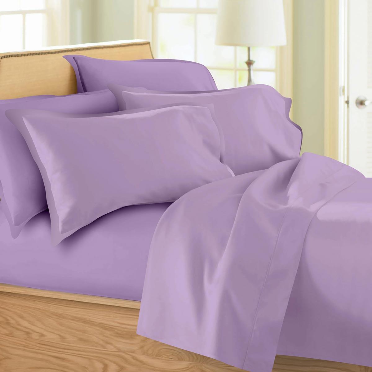 Σεντόνια Υπέρδιπλα (Σετ) Maison Blanche 62002 Lilac/Lilac