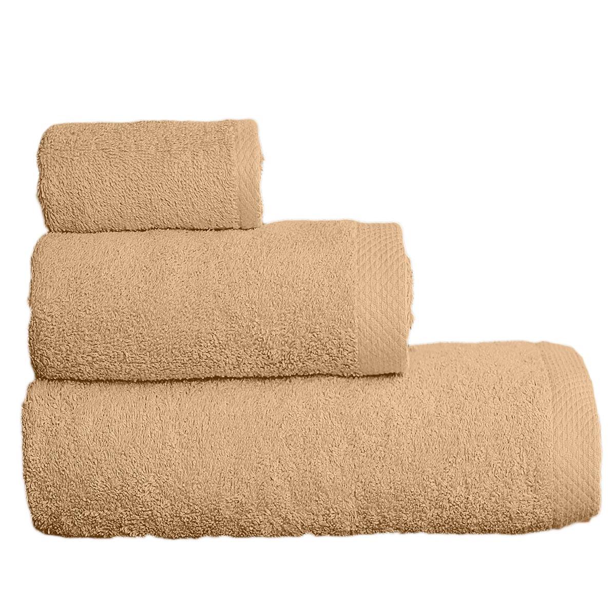 Πετσέτες Μπάνιου (Σετ 3τμχ) Vielen 866099 Μπεζ