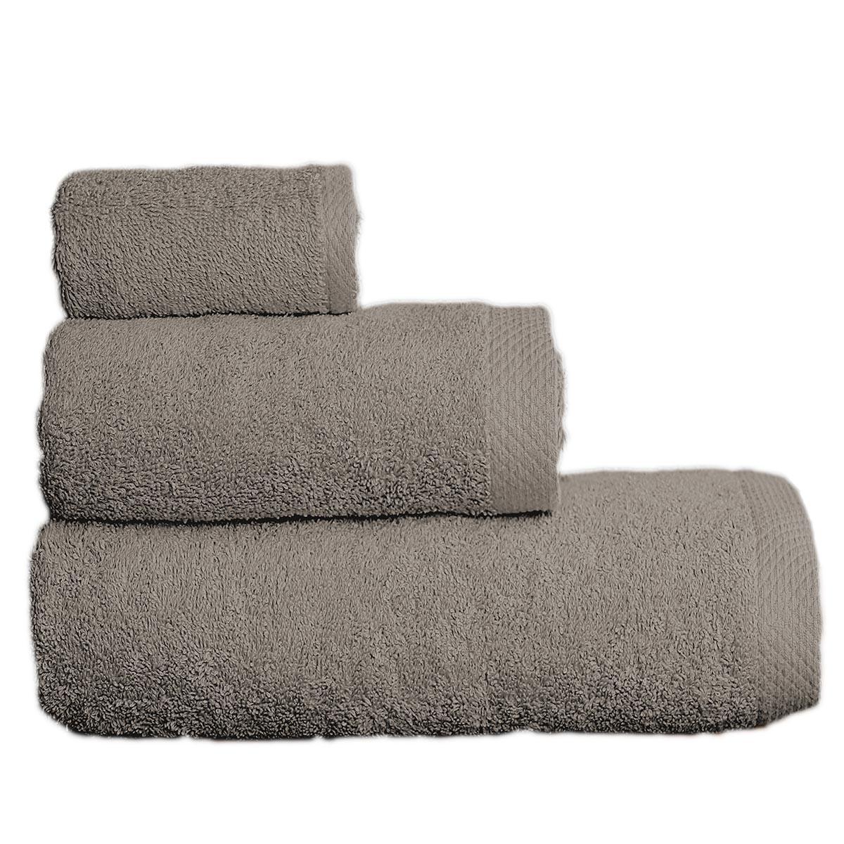 Πετσέτες Μπάνιου (Σετ 3τμχ) Maison Blanche 866099 Γκρι