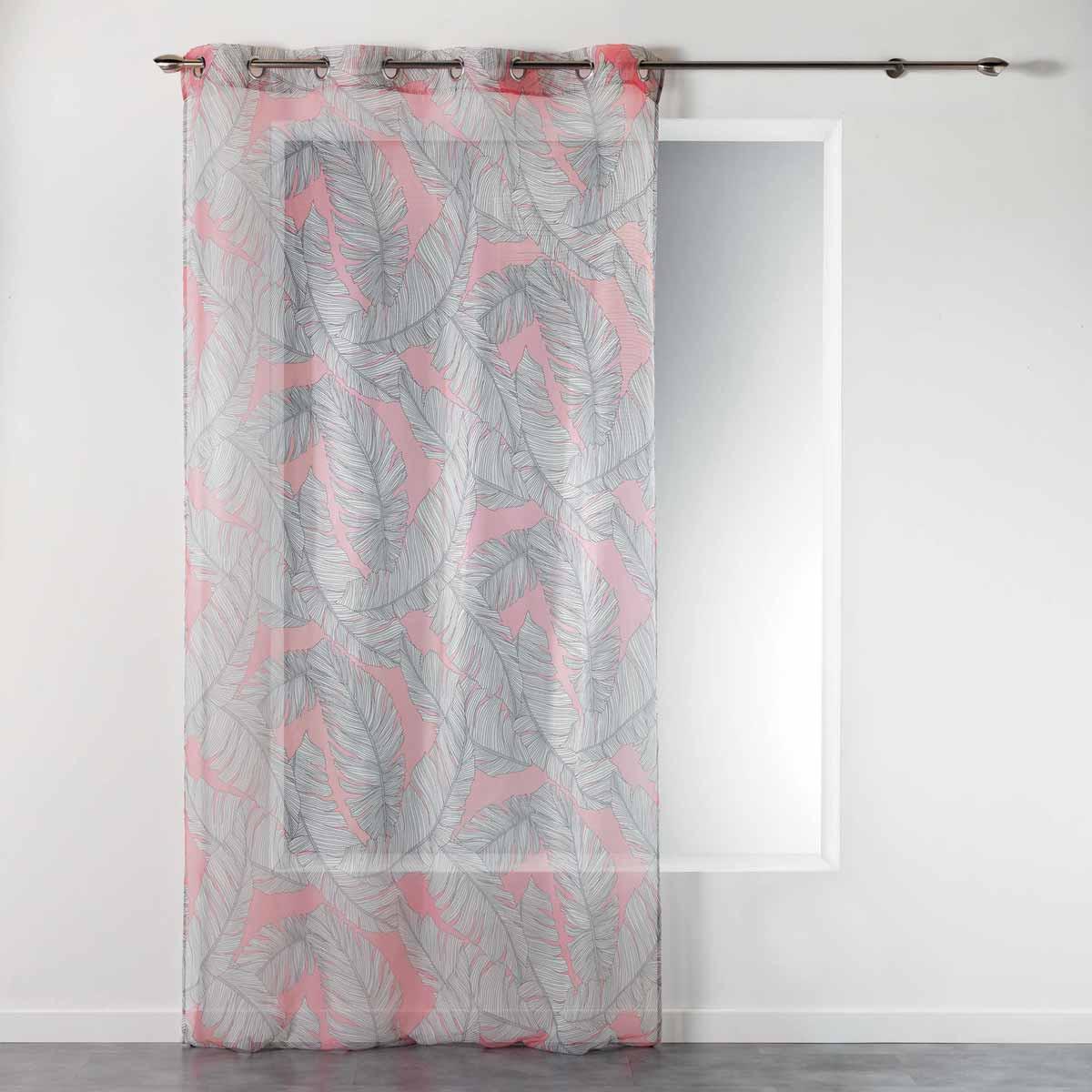 Κουρτίνα (140×240) Με Τρουκς Chic Allure Voilage Coral 1408260
