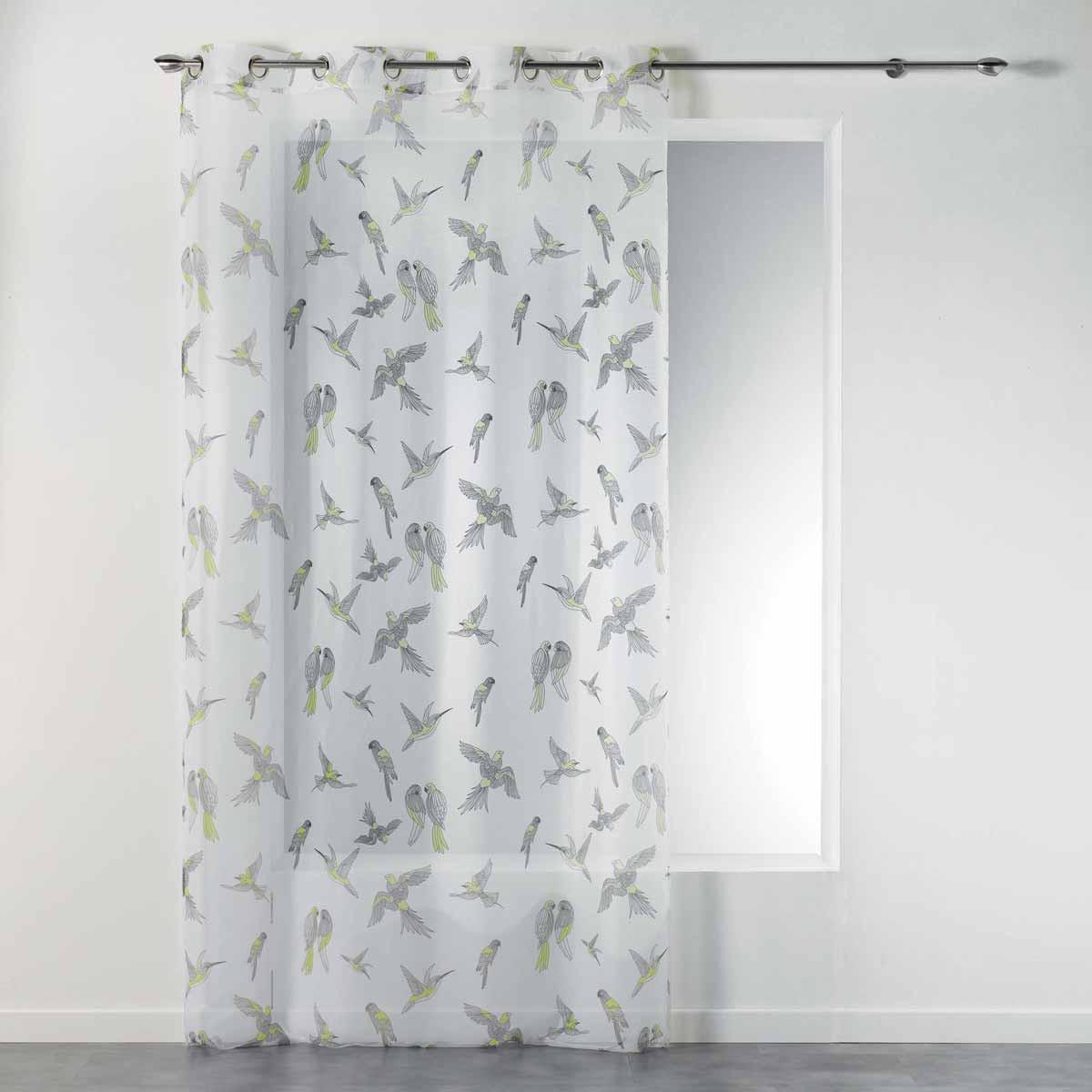 Κουρτίνα (140×240) Με Τρουκς Envolee Chic Voilage Jaune 1408269