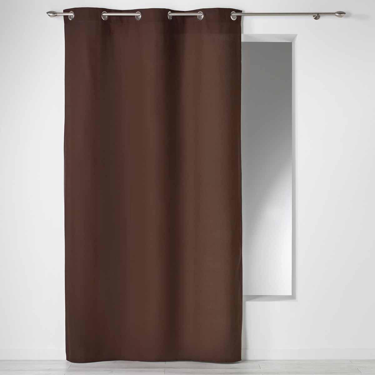 Κουρτίνα (140×240) Με Τρουκς L-C Panama Choco 1604627
