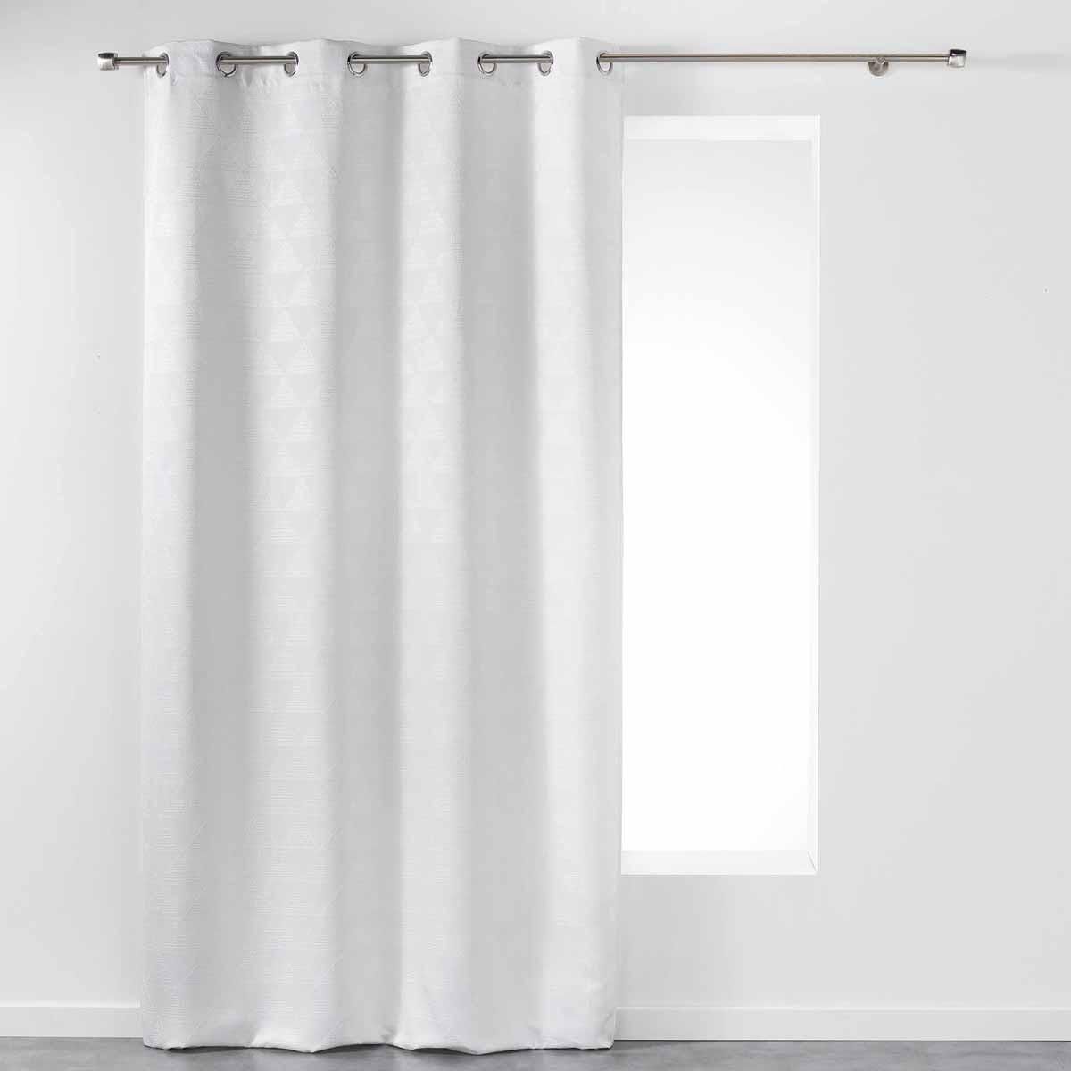 Κουρτίνα (140×260) Με Τρουκς Triomi Blanc 1606865