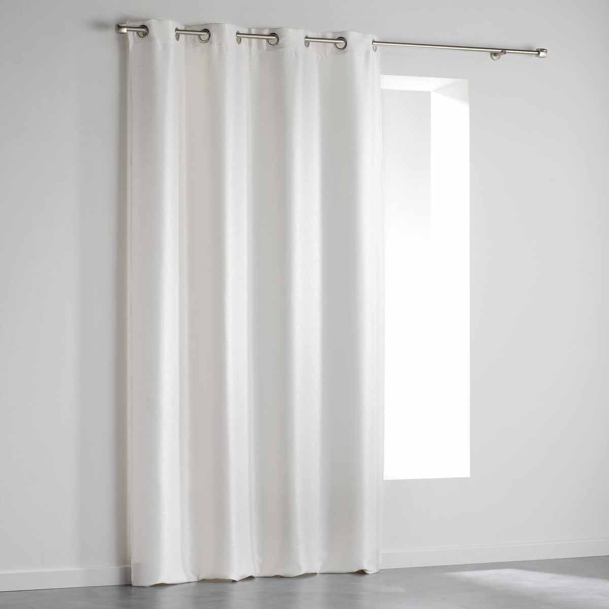 Κουρτίνα Blackout Βελουτέ (140×240) Με Τρουκς Shadow Blanc 1607635