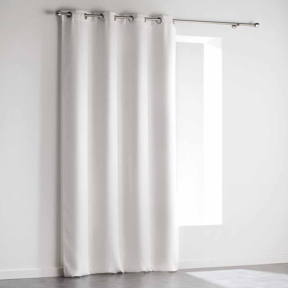 Κουρτίνα Blackout Βελουτέ (140×240) Με Τρουκς L-C Triago Blanc 1607642