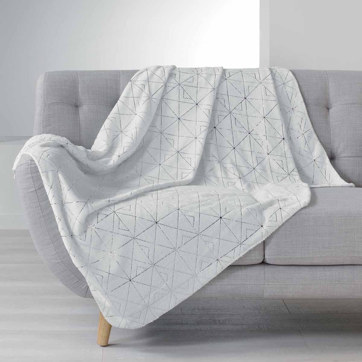 Κουβέρτα Καναπέ Quadris Blanc 1607737