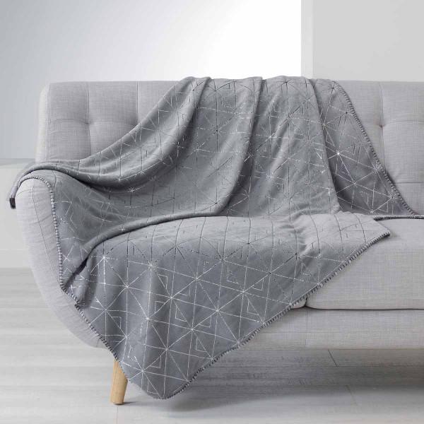 Κουβέρτα Καναπέ Quadris Gris 1607738