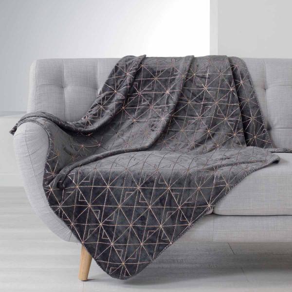 Κουβέρτα Καναπέ Quadris Anthracite 1607740