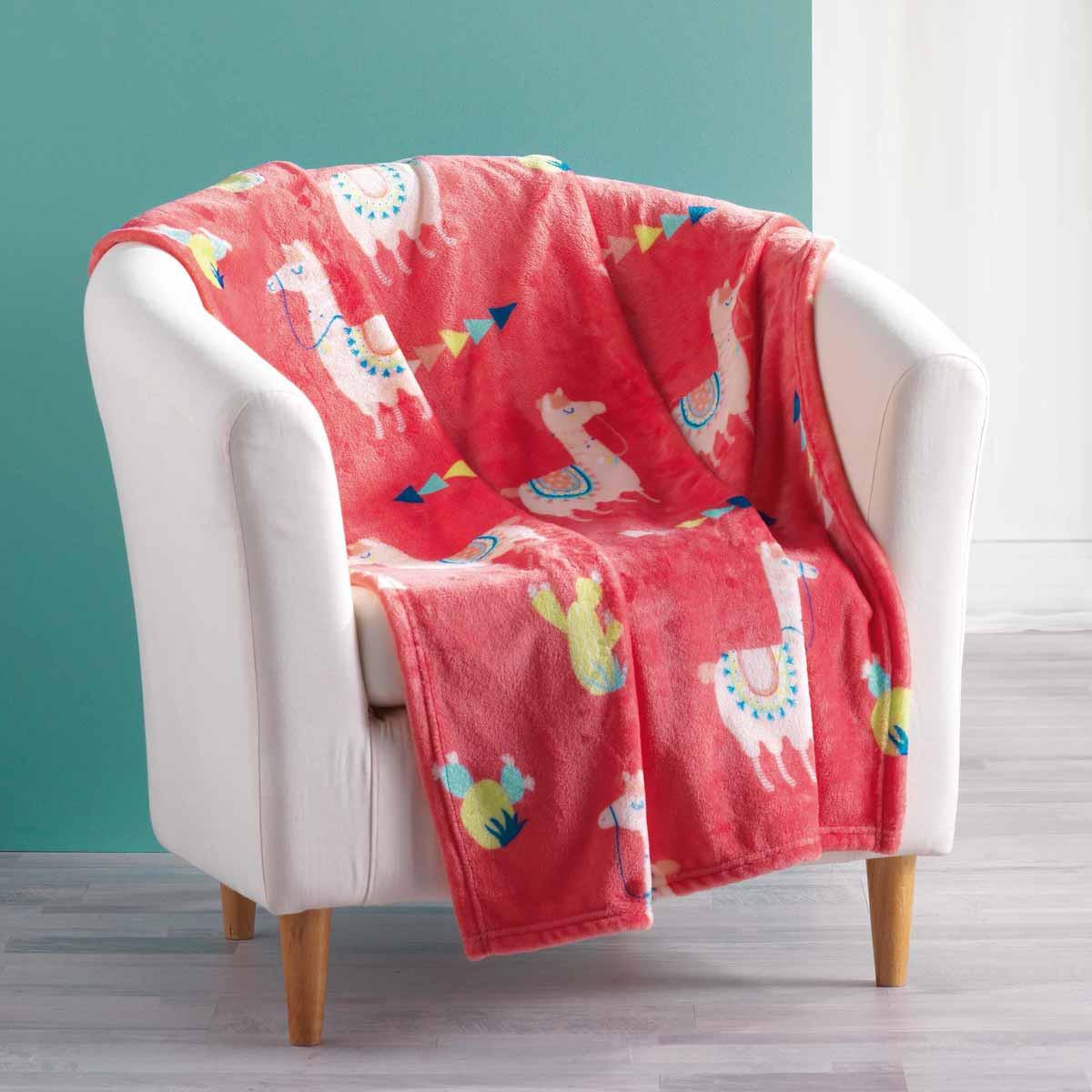 Παιδική Κουβέρτα Καναπέ Happy Lama 1608426