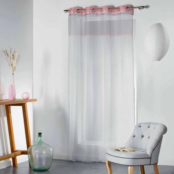 Κουρτίνα (140x240) Με Τρουκς Matik Voilage Rose 1625086