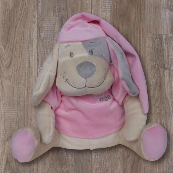 Λούτρινο Παιχνίδι Λευκών Ήχων Babiage Dog Pink BR73478