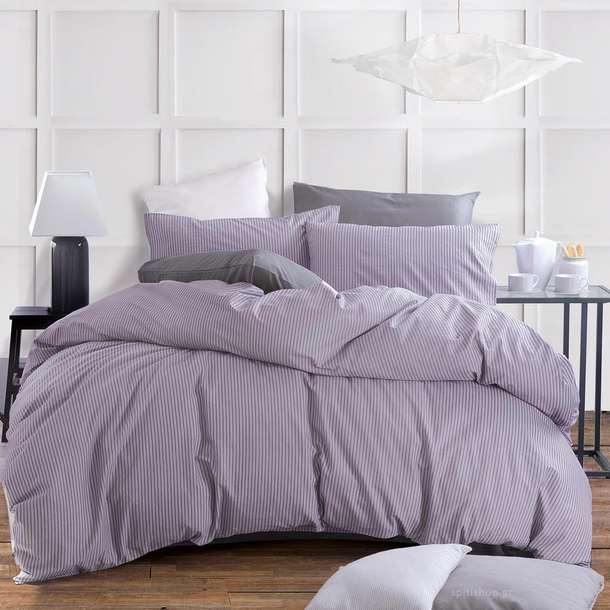 Κουβερλί Υπέρδιπλο (Σετ) Rythmos Diva Renny Purple