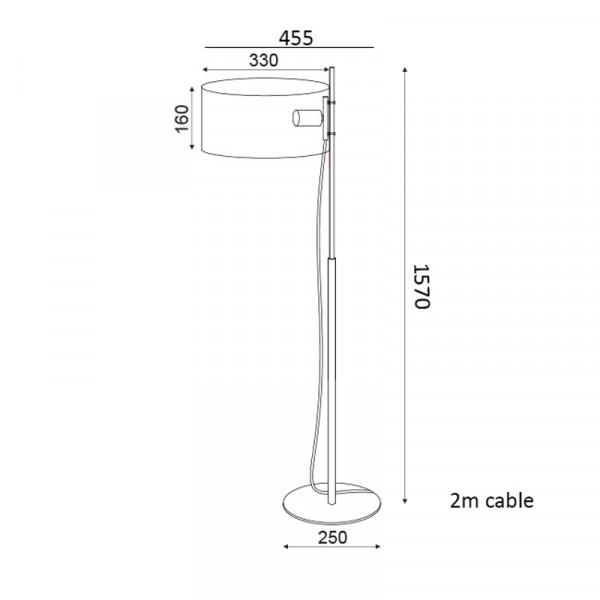 Φωτιστικό Δαπέδου Aca OD90451FBN Nickel Satin/Black