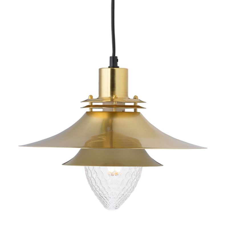 Φωτιστικό Οροφής Μονόφωτο Aca KS07871PBS Brass Satin