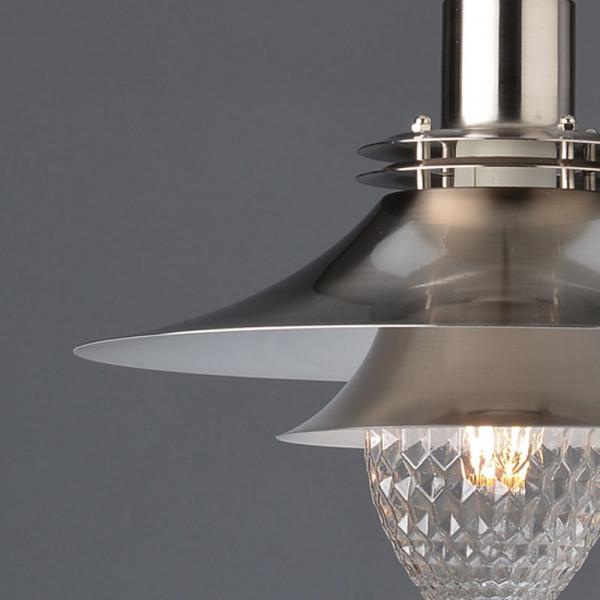 Φωτιστικό Οροφής Μονόφωτο Aca KS07871PSN Nickel Satin