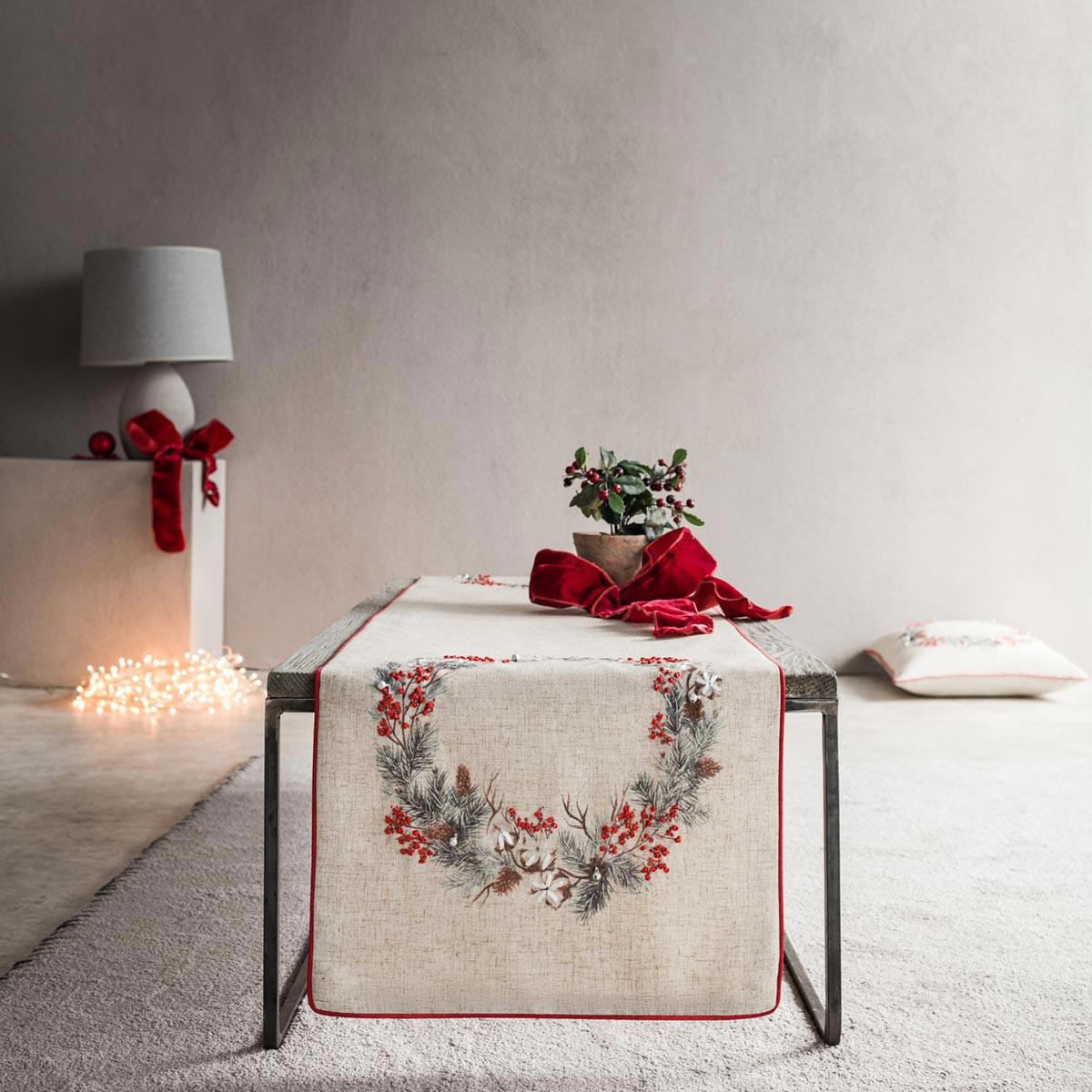 Χριστουγεννιάτικη Τραβέρσα (40×160) Gofis Home 995