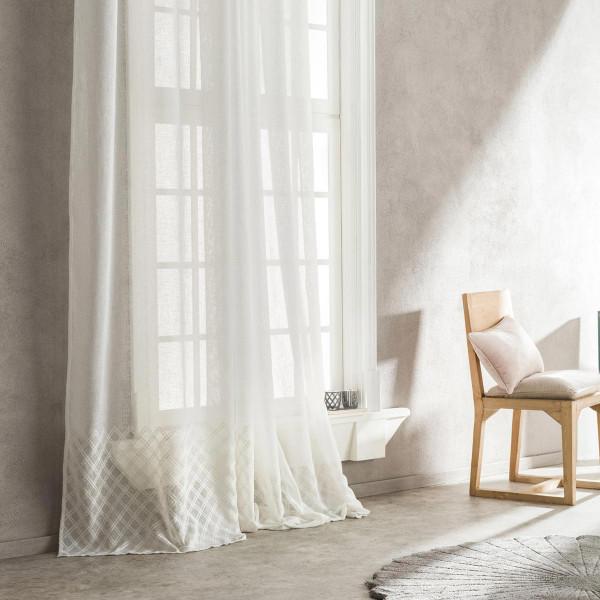 Κουρτίνα (140x280) Με Τρουκς Gofis Home Pergola Off White 509/05