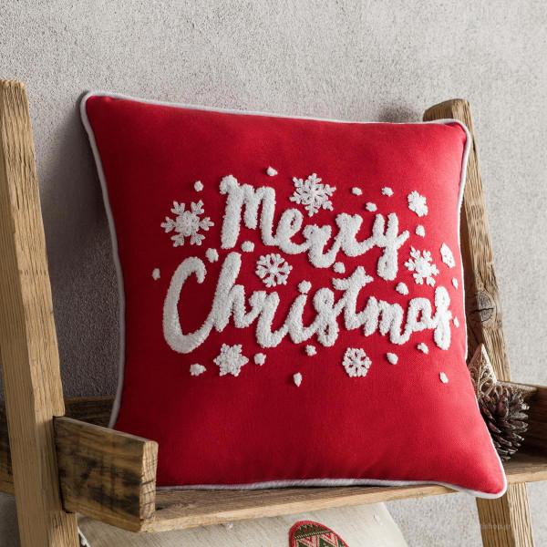 Χριστουγεννιάτικη Μαξιλαροθήκη (43x43) Gofis Home 169