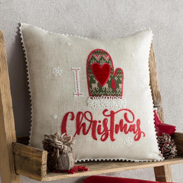 Χριστουγεννιάτικη Μαξιλαροθήκη (43x43) Gofis Home 272