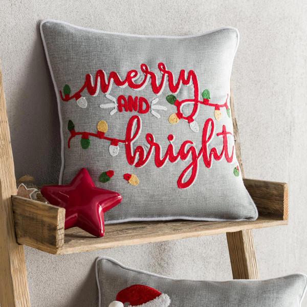 Χριστουγεννιάτικη Μαξιλαροθήκη (43x43) Gofis Home 743