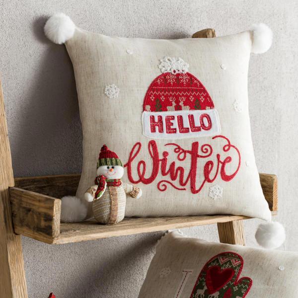 Χριστουγεννιάτικη Μαξιλαροθήκη (43x43) Gofis Home 777