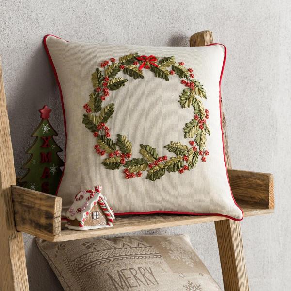 Χριστουγεννιάτικη Μαξιλαροθήκη (43x43) Gofis Home 813