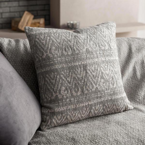 Διακοσμητική Μαξιλαροθήκη (50x50) Gofis Home Reyan Grey 551/15