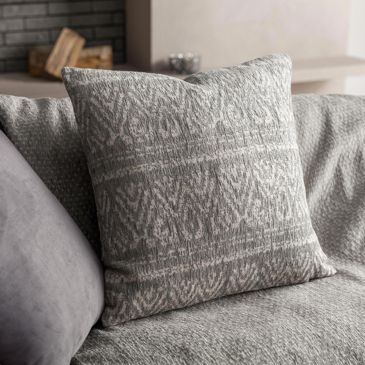 Διακοσμητική Μαξιλαροθήκη (50×50) Gofis Home Reyan Grey 551/15