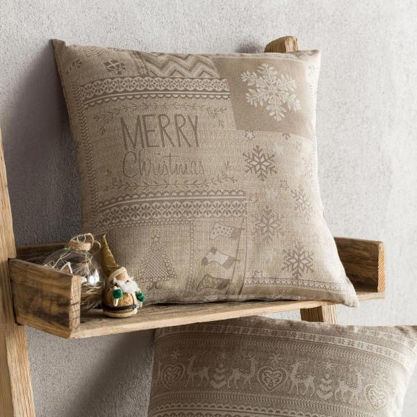 Χριστουγεννιάτικη Μαξιλαροθήκη (43x43) Gofis Home 594/04