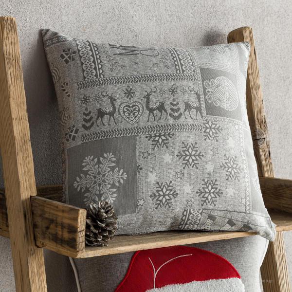 Χριστουγεννιάτικη Μαξιλαροθήκη (43x43) Gofis Home 594/15
